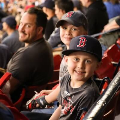 Kids at Red Sox