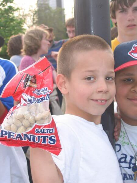 Indians Fan with Peanuts