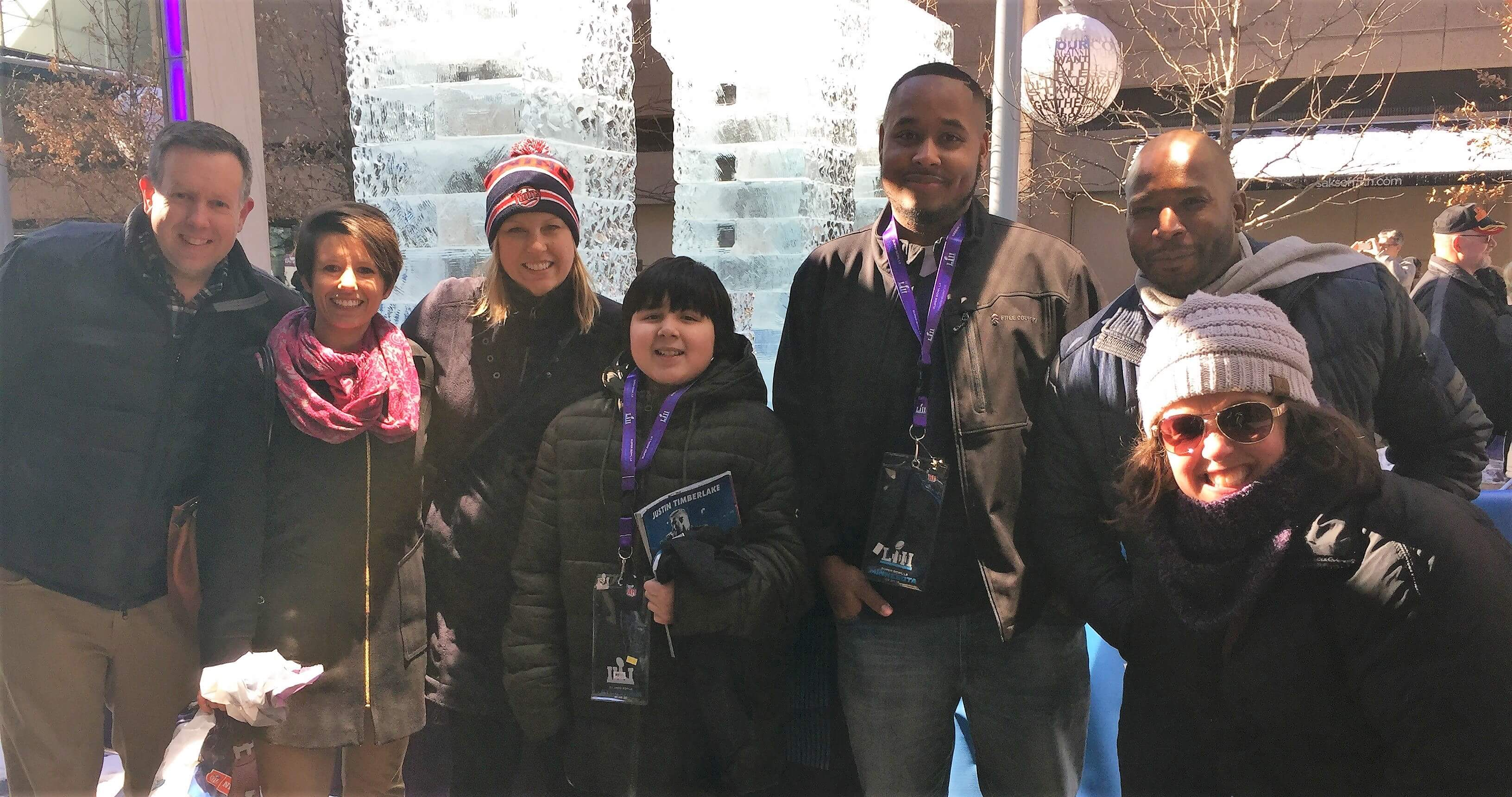 Tickets for Kids surprises a mentor and mentee pair with tickets to the Super Bowl